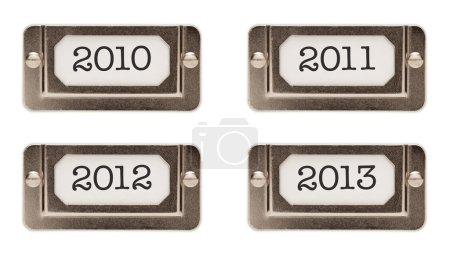 2010, 2011, 2012, 2013 File Drawer Labels