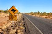 Klokan varovný signál v Austrálii