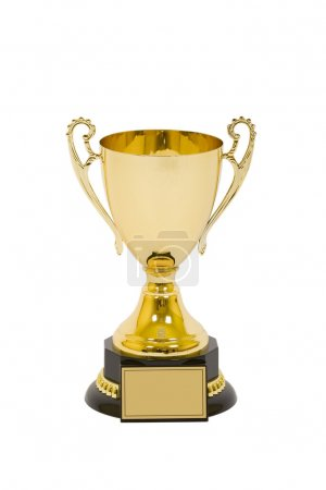 Trophy isolated