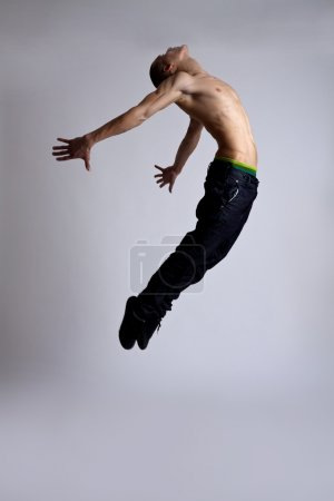 Photo for Stylish and young modern style dancer is posing - Royalty Free Image