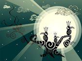 Ptáci v měsíčním světle