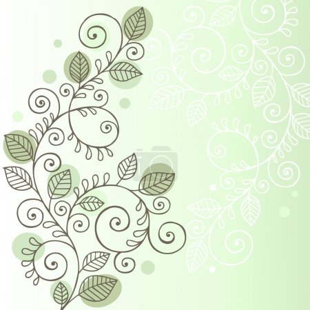 Vines and Leaves Notebook Doodles Vector Illustration