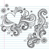 Sketchy Love Heart Notebook Doodles