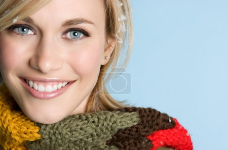 Photo for Beautiful scarf girl smiling - Royalty Free Image