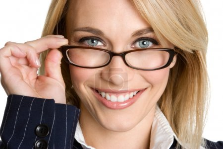 Photo for Beautiful woman wearing glasses - Royalty Free Image