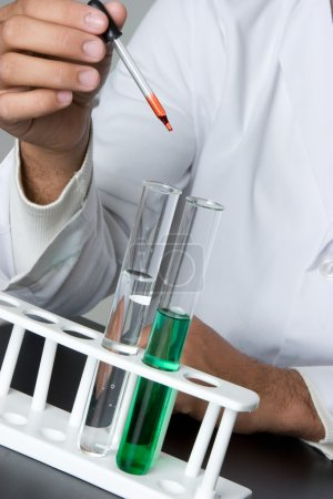 Photo for Test tubes science experiment - Royalty Free Image