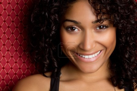 Photo for Happy african american woman smiling - Royalty Free Image