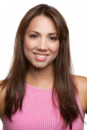 Photo for Pretty smiling latina woman portrait - Royalty Free Image