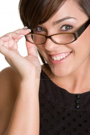 Photo for Smiling woman wearing eyeglasses - Royalty Free Image