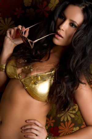 Gold Bikini Woman