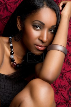 Photo for Pretty black woman closeup portrait - Royalty Free Image