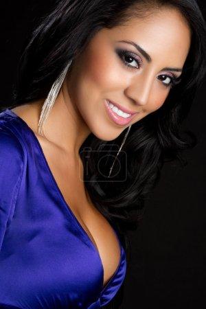 Smiling Latina Woman