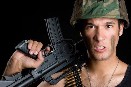 Aggressive Soldier