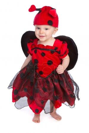 Photo pour Bébé fille portant costume d'Halloween - image libre de droit