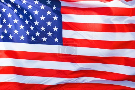Photo pour An American flag background waving in the wind - image libre de droit