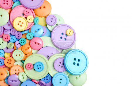 Isolated clothing buttons