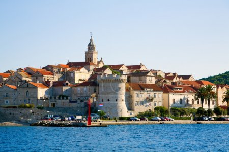 Photo for Scenic view of city of Korcula on the island of Korcula in Croatia - Royalty Free Image