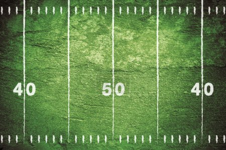 Photo for Close up of yard markers on football field with chalk drawn lines. - Royalty Free Image
