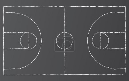 Vector Basketball Court