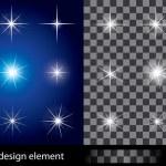 Set of transparent stars. Vector illustration for ...