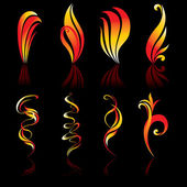 Fire icons collection original Vector illustration