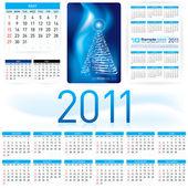 Vector illustration Informal Style 2011 Calendar Template