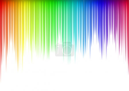 Colorful Sound waveform (editable vector) on white...