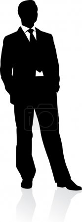 Illustration pour Homme d'affaires en costume et cravate. Illustration vectorielle - image libre de droit