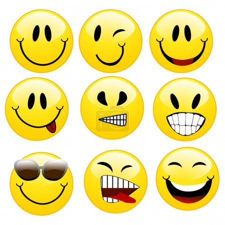 Illustration for A set of smileys - Royalty Free Image