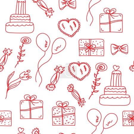 Holidays seamless pattern