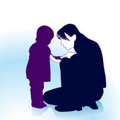 Mother to comfort child