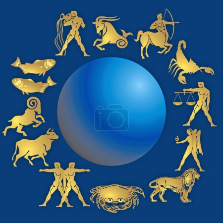 Illustration for Signs of the zodiac - Royalty Free Image