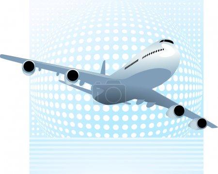 Illustration pour Grand avion - image libre de droit