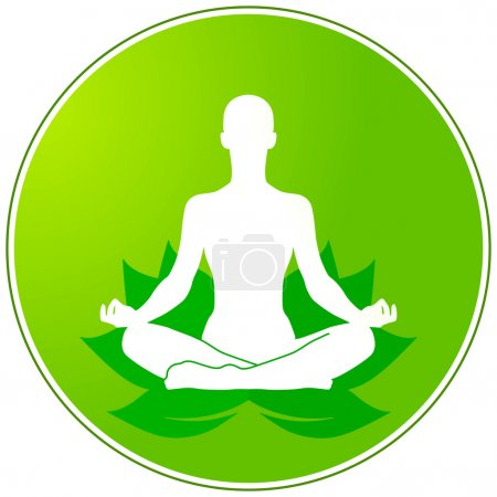 Illustration for Green yoga - Royalty Free Image