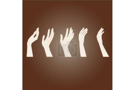 Illustration pour Mains - illustration vectorielle - image libre de droit