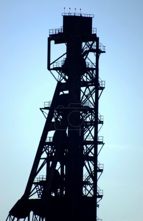 Tower pit old mineral ore mining metal mine...