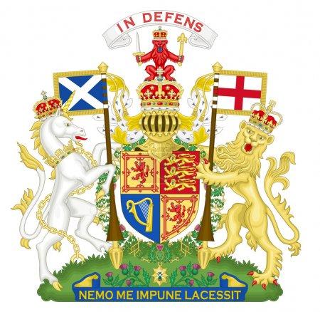 Photo pour Royaume-Uni et blason Ecosse, sceau ou l'emblème national, isolé sur fond blanc. - image libre de droit