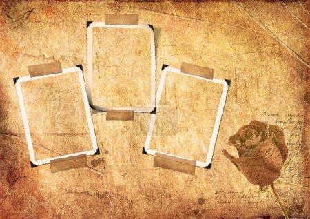Grunge paper and photo frameworks