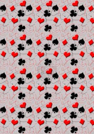 Photo pour Abstrait - les symboles de cartes à jouer, ace, diamants, clubs, coeurs - image libre de droit
