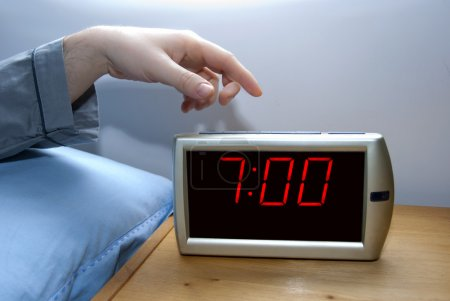 Photo for Switch off an alarm clock - Royalty Free Image
