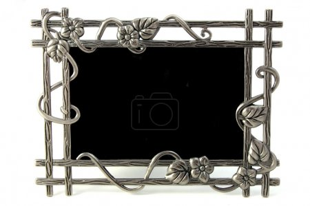 Photo for Empty picture frame isolated on a white background - Royalty Free Image