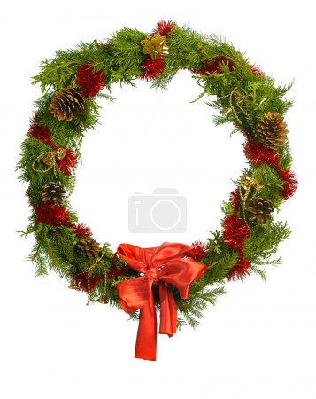 Photo for Christmas wreath isolated on white - Royalty Free Image