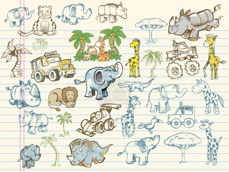 Illustration for Mega Doodle Sketch Set Vector Illustration Collection - Royalty Free Image