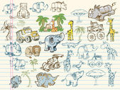 Mega Doodle Sketch Set Vector Collection