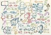 Mega Doodle Sketch Vector Set