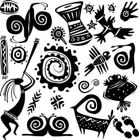 Illustration for Elements for designing primitive art - Royalty Free Image