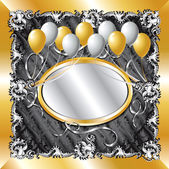 Vector Illustration of fancy Gold & Silver Balloon Background template Great for weddings parties & more Template design can insert text or photo