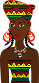 Vector of African Girl Avatar See others in this series