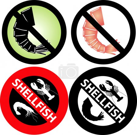No Shellfish Sign