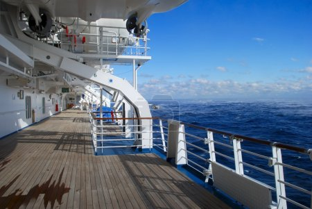 Photo for Stock pictures of the deck on a cruise ship - Royalty Free Image
